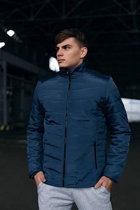 Чоловіча тепла синя куртка (Весна - Осінь), фото 2
