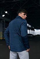 Чоловіча тепла синя куртка (Весна - Осінь), фото 3