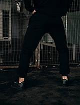 Штани Спортивні чоловічі Cosmo Intruder чорні трикотажні, фото 3