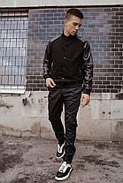 Бомбер чоловічий Re-Balance демісезонний чорного кольору. Чоловіча весняна / осіння куртка чорна., фото 3