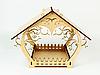 Годівниця дерев'яна підвісна вулична для птахів 23х29х18 з оригінальним візерунком, фото 2