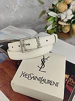 Кожаный женский ремень YSL Yves Saint Laurent (Ив сен Лоран)