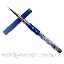 Пензлик для розпису і дизайну нігтів, тонка №1 - 9 мм.