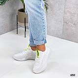 Женские кроссовки белые текстиль весна- лето, фото 2