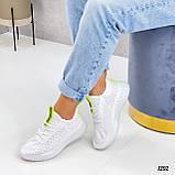 Женские кроссовки белые текстиль весна- лето, фото 3