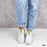 Женские кроссовки белые текстиль весна- лето, фото 5