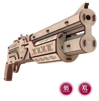 """Іграшка механічна дерев'яна 3D-модель """"Рушниця"""" №10102/ПлейВуд/"""
