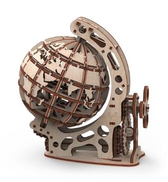 """Іграшка механічна дерев'яна 3D-модель """"Глобус"""" №10202/ПлейВуд/"""