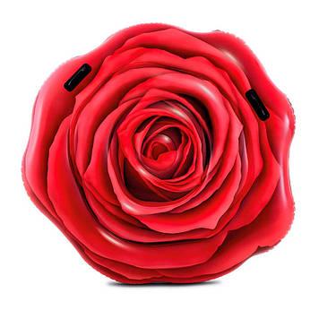 Надувний матрац Червона троянда,137х132см,ремкомплект,у кор-ці №58783(6)