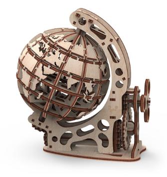 """Іграшка механічна дерев'яна 3D-модель """"Глобус""""S"""" №10203/ПлейВуд/"""