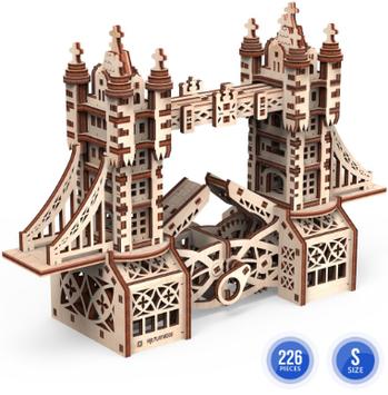"""Іграшка механічна дерев'яна 3D-модель """"Тауерський міст""""S"""" №10402/ПлейВуд/"""