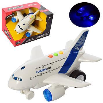 """Літак """"Автосвіт"""", інер-ий,1:200,20 см,звук,світло,бат(таб), в кор-ці21х13х15см №AS-2155(48)"""