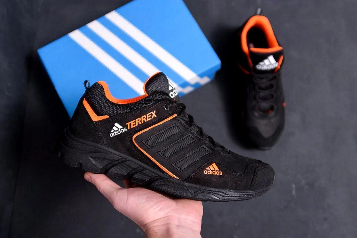 Чоловічі шкіряні кросівки Adidas чорні
