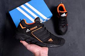Мужские кожаные кроссовки Adidas черные