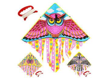 Повітряний змій 3види в пакунку 100х53х47см №M2896(100)