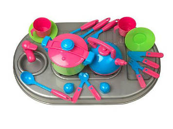 Плита в кор-ці,мийка,посуд,№04-410/Кіндер-Вей/(4)