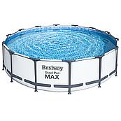 Каркасний басейн Steel Pro Max 56438 (457 х 122 см), з картриджних фільтрів, тентом і сходами