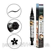 Водостійкий двосторонній лайнер олівець олівець для очей століття тату штамп для арт макіяжу квітки