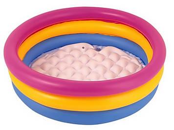 Басейн дитячий круглий 3 кільця,надувне дно,210л,152х30см,у кор-ці,33х28см №BW51103(6)