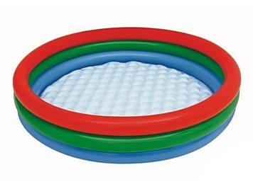 Басейн дитячий круглий 3 кільця,надувне дно,102х25см,в коробці,25х25см №BW51104(8)