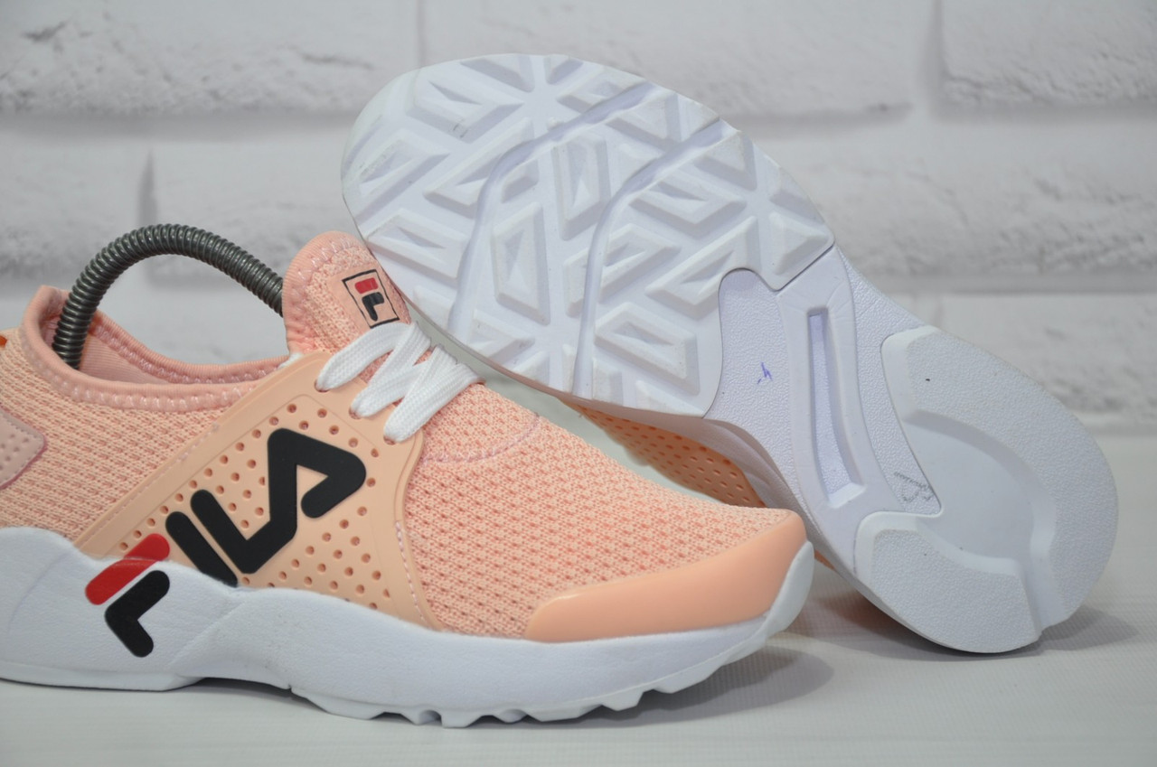 Жіночі літні кросівки сітка в стилі Fila