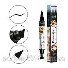 Водостійкий двосторонній лайнер олівець олівець для очей століття тату штамп для арт макіяжу у формі куточка