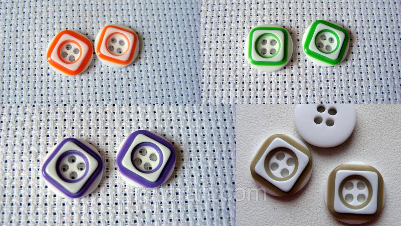 Ґудзик пластиковий, декоративний, круглий. 12 мм