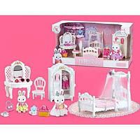 Игровой набор мебель для флоксовых животных Спальня 6616, флоксовый зайка
