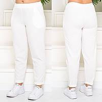 Женские стильные брюки №759 (р.48-58) молочный