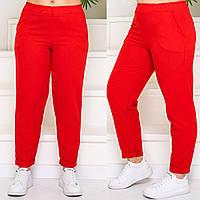 Женские стильные брюки №759 (р.48-58) красный