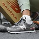 Жіночі Кросівки New Balance 574 Grey Pink, фото 4