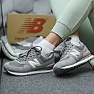 Жіночі Кросівки New Balance 574 Grey Pink, фото 8