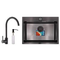 Набор для кухни MIXXUS SET-6045-200x1.0-PVD (мойка+смеситель+диспенсер) (MX0587)