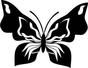 Штамп акриловый. Бабочка-3 6,2х3,9см