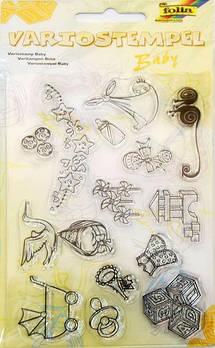 Штамп акриловый набор Детский, 14шт, Folia