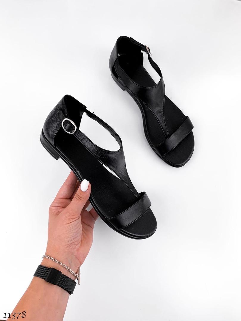 Босоножки женские кожаные без каблука 11378 (ЯМ)