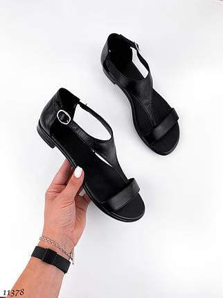 Босоножки женские кожаные без каблука 11378 (ЯМ), фото 2