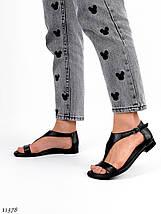 Босоножки женские кожаные без каблука 11378 (ЯМ), фото 3