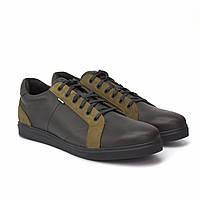 Мужские кожаные кроссовки коричневые кеды Обувь больших размеров 46-50 Rosso Avangard Puran Brown Crazy BS