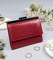 Жіночий шкіряний гаманець Badura з RFID 10 х 12 х 1,7 (PO_D098CR_CE)- червоний, фото 1
