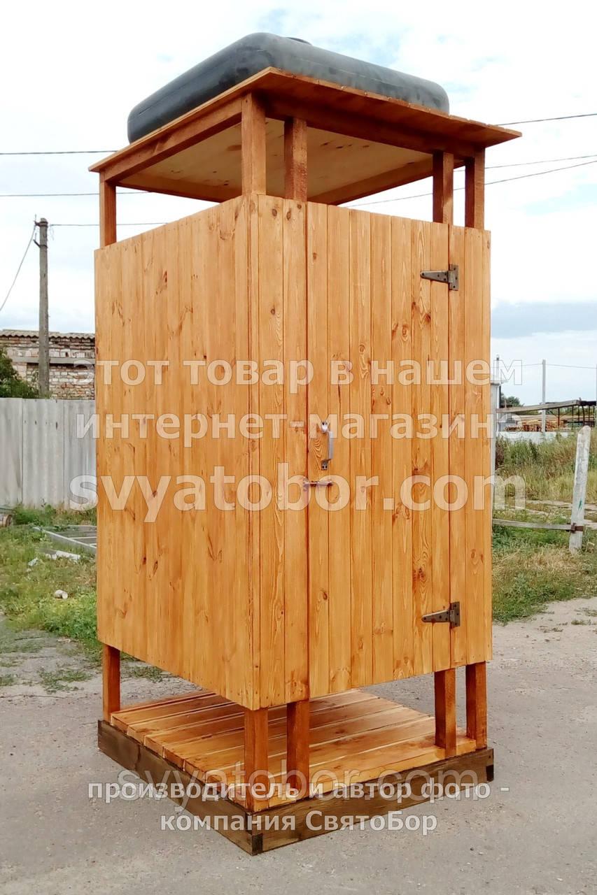 Душ дерев'яний літній з імітації бруса відкритого типу (в розібраному вигляді)