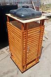 Душ деревянный летний из блок-хауса открытого типа, фото 5