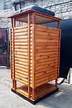 Душ деревянный летний из блок-хауса открытого типа, фото 2