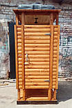 Душ дерев'яний літній блок-хауса відкритого типу, фото 3