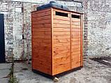 Душ деревянный летний (с предбанником) из имитации бруса закрытого типа, фото 2
