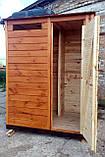 Душ дерев'яний літній (з передбанником) з імітації бруса закритого типу (в розібраному вигляді), фото 4