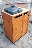 Душ дерев'яний літній (з передбанником) з імітації бруса закритого типу (в розібраному вигляді), фото 5