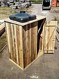 Душ дерев'яний літній (з передбанником) з обрізної дошки закритого типу, фото 3