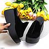 Замшеві лаконічні чорні жіночі шльопанці сабо натуральна замша на платформі, фото 10