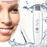 Аппарат для ультразвуковой чистки лица в домашних условиях - скрабер Wonder Cleaner, фото 6